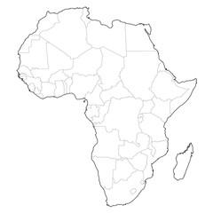 vector africa borders