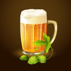 Beer hop background