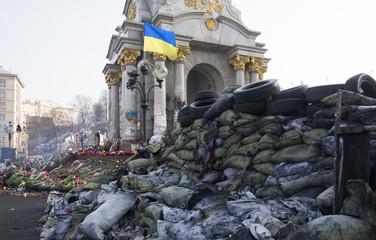 Barricade on Euromaidan