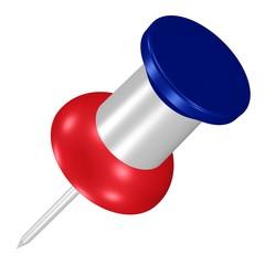Pin in den Farben der französischen Flagge