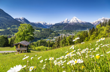 Foto op Canvas Alpen Scenic landscape in Bavarian Alps, Berchtesgaden, Germany