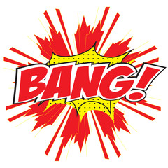 BANG! comic wording design for comic background