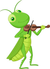 Grasshopper with a Violin