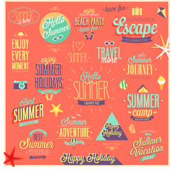 Wall Mural - Summer and Travel set