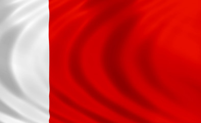 Dubai flag of silk