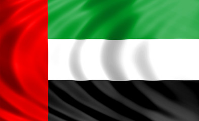 United Arab Emirates flag of silk