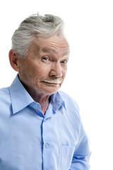 Emotional elderly man