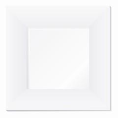 Weisser breiter Rahmen