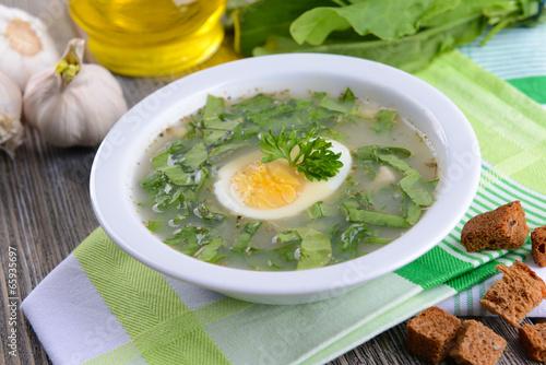Суп со щавелем для похудения