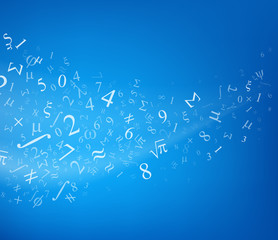 Background with numbers, vector