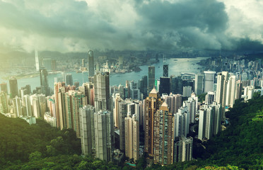 Wall Mural - Hong Kong from Victoria Peak