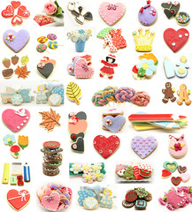 Wall Mural - Collage de galletas decoradas