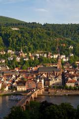 Heidelberg alte Brücke am Abend