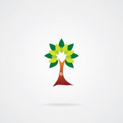 Green Tree icon. Eps-10.