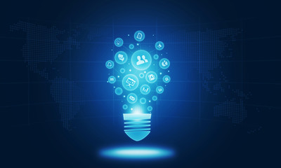 business creative on light bulb