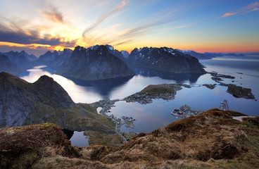 Wall Mural - Landscape - Village Reine at sunset, Norway