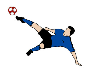 drawing of the player in soccer