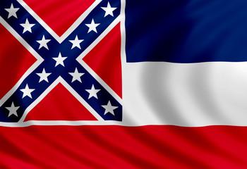 Mississippi flag of silk