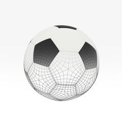 Football  isolate on white