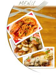menu restaurant avec photos et couverts
