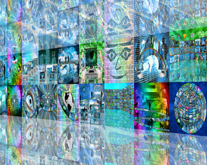 wall of image
