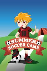 Soccer summer camp poster
