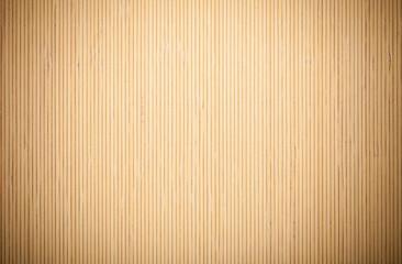Beige brown bamboo mat striped background texture pattern