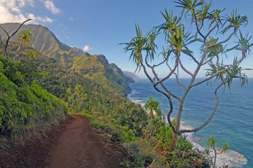 Rugged Na Pali Coast of Kauai, Hawaii