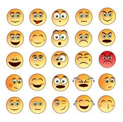 Smiley faces set