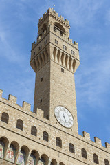 Fototapete - The Old Palace (Palazzo Vecchio) , Florence (Italy)