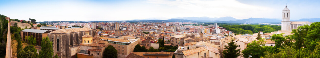 Panorama of Girona from roof
