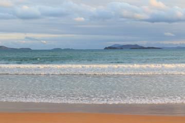 Background beach sea sand waves