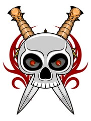skull with blade