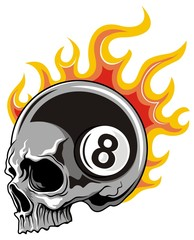 skull eight ball