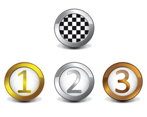 Podium button 3d