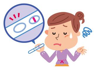 妊娠検査薬を使う女性 不妊