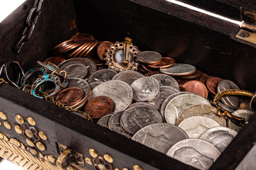 Stash of coins