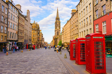 street view of Edinburgh, Scotland, UK Wall mural