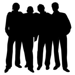four guys silhouette