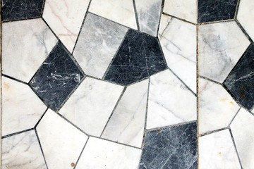 Marble Texture Black and White Mosaic Background