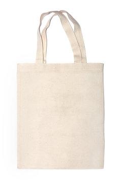 cotton eco bag on white background