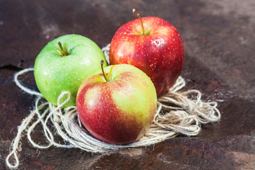 Three Ripe Apple