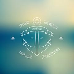 Retro anchor logotype