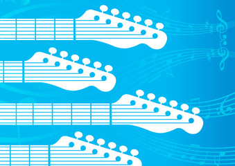 vector background with Guitar headstocks