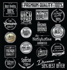 Premium quality silver labels