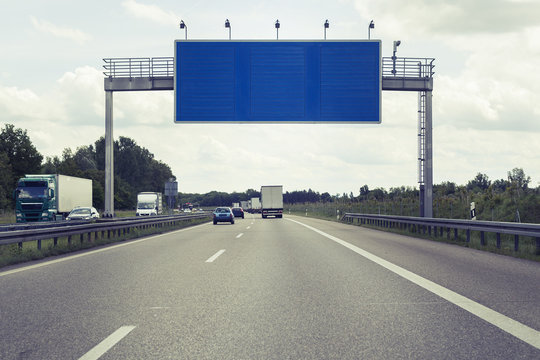 Road sign - highway