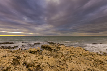 noble marine landscape with nice colour sky