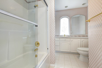 Refreshing bathroom interior in soft colors