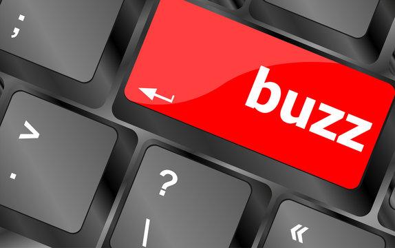 buzz word on computer keyboard key