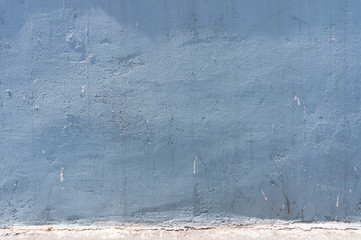 blue concrete walls